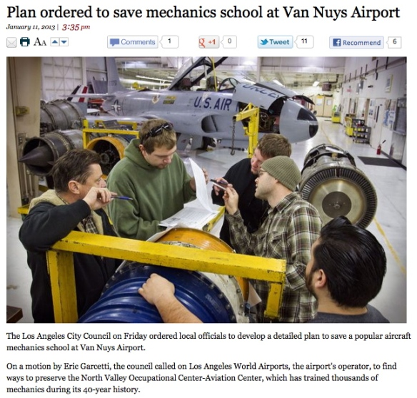 Adult Ed Aviation program saved