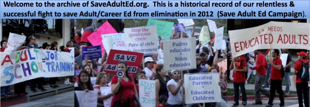 Save Adult Ed!
